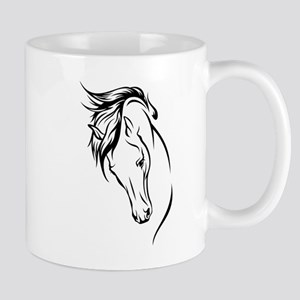 Line Drawn Horse Head Stainless Steel Travel Mugs