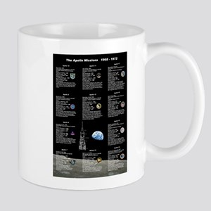 The Apollo Missions 1968 - 1972 Mugs