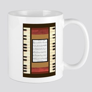 Piano Keys Sheet Music Song 5x7 Mugs