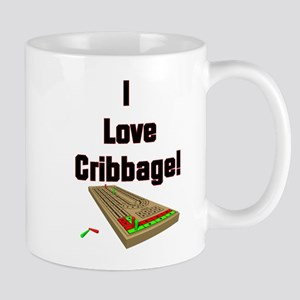 I Love Cribbage Large Mugs