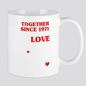 1971 Together Since 49 th Anniversary Gift Mugs