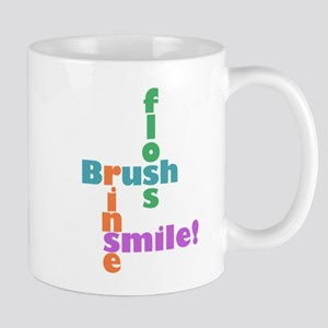 Brush Floss Rinse Smile Mug