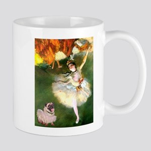 Dancer 1 & fawn Pug Large Mugs