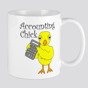 Accounting Chick Text Mugs