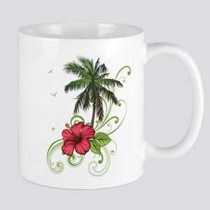 Tree with Hibiscus Mugs