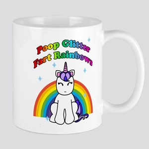 Poop Glitter Fart Rainbows Mugs