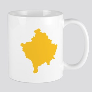 Kosovo Map Yellow Mug