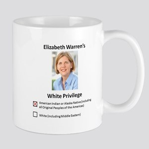 Elizabeth Warren White Privilege Mug