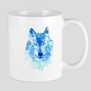 Watercolor Winter Wolf Mug