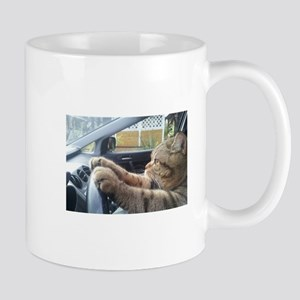 Driving Cat Mugs
