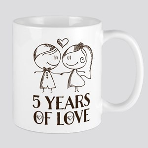 5th Anniversary chalk couple Mug