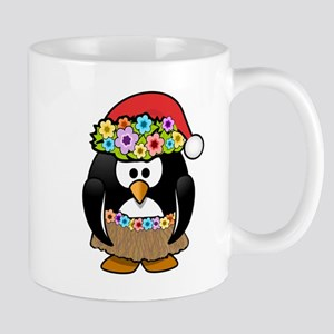 Hawaiian Christmas Penguin Small Mug