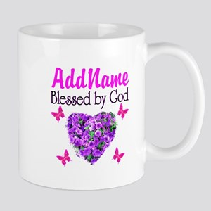 BLESSED BY GOD Mug