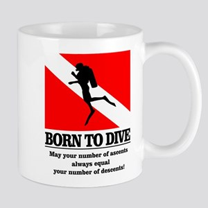 Born To Dive (Descent-Ascent) 11 oz Ceramic Mug