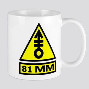 81mm warning Mug
