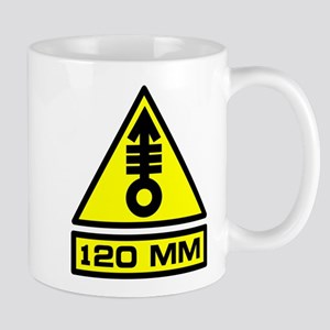120mm Warning Mug