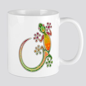 Gecko Floral Tribal Art Mugs
