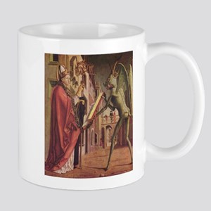 Michael Pacher's Saint Augustine and the Devil Mug