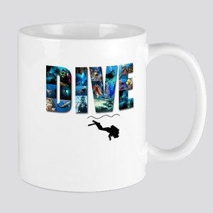 dive in pics copy Mugs