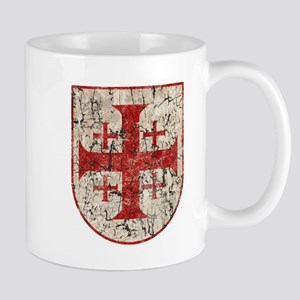 Jerusalem Cross, Distressed Mug