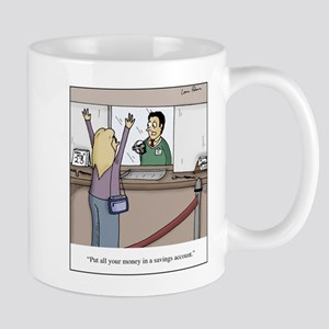 Savings Account Robbery Mug