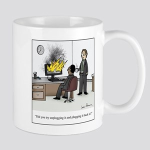 Unplug and Plug Back in Cartoon 11 oz Ceramic Mug