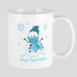 Cute Personalized Snowman Mug