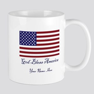God Bless America Personalize Mug Mugs