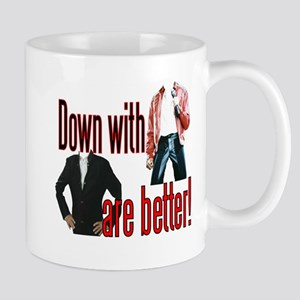 Leather vs Suits Mug