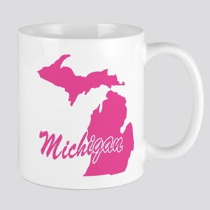 Pink Michigan Mug