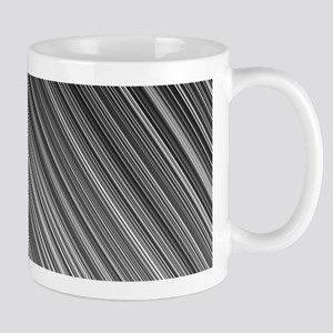 Black and White Diagonal Lines Mugs