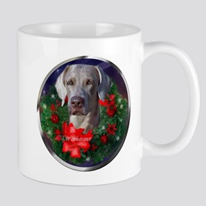 Weimaraner Christmas 11 oz Ceramic Mug