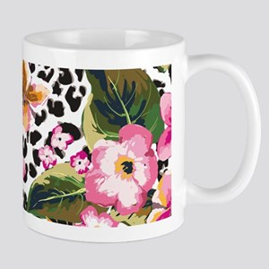 Animal Print Flower Mugs