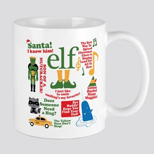 Elf Movie Collage Mugs