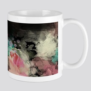cute vintage black floral Mugs