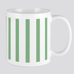 Green and white Thin Stripes Mug