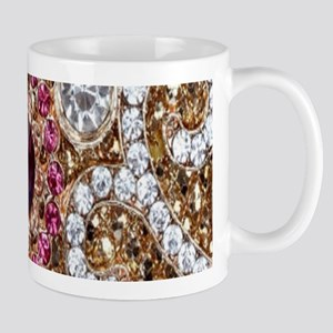 girly bohemian red rhinestone Mugs