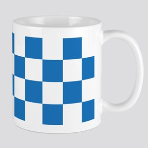 BLUE AND WHITE Checkered Pattern Mugs