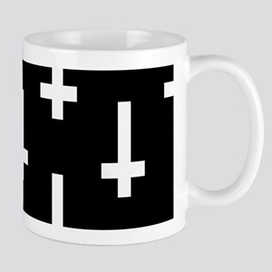 upside down cross Mugs