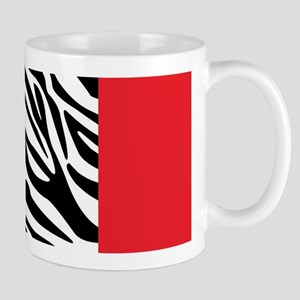 Red Leopard and Zebra Animal Print Mugs