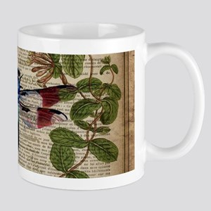 vintage botanical dragonfly Mugs