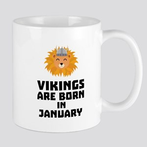 Vikings are born in January Cva42 Mugs