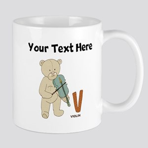 Custom Violin Bear Mugs