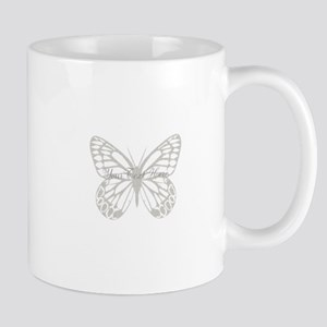 Cute Grey Butterfly Mug