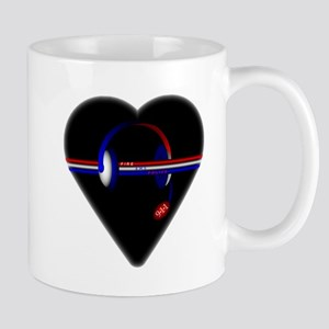 911 Dispatcher (Heart) Mugs