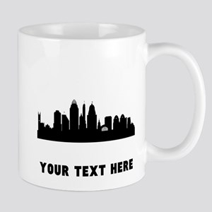 Cincinnati Cityscape Skyline (Custom) Mugs