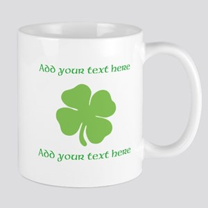 St. Patricks Day personalisable shamrock Mugs