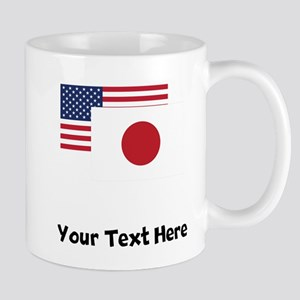 American And Japanese Flag Mugs