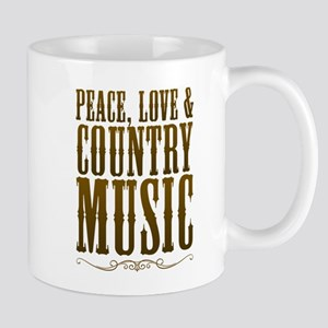 Peace Love Country Music Mugs