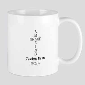 Amazing Grace Cross Custom Personalized Mugs